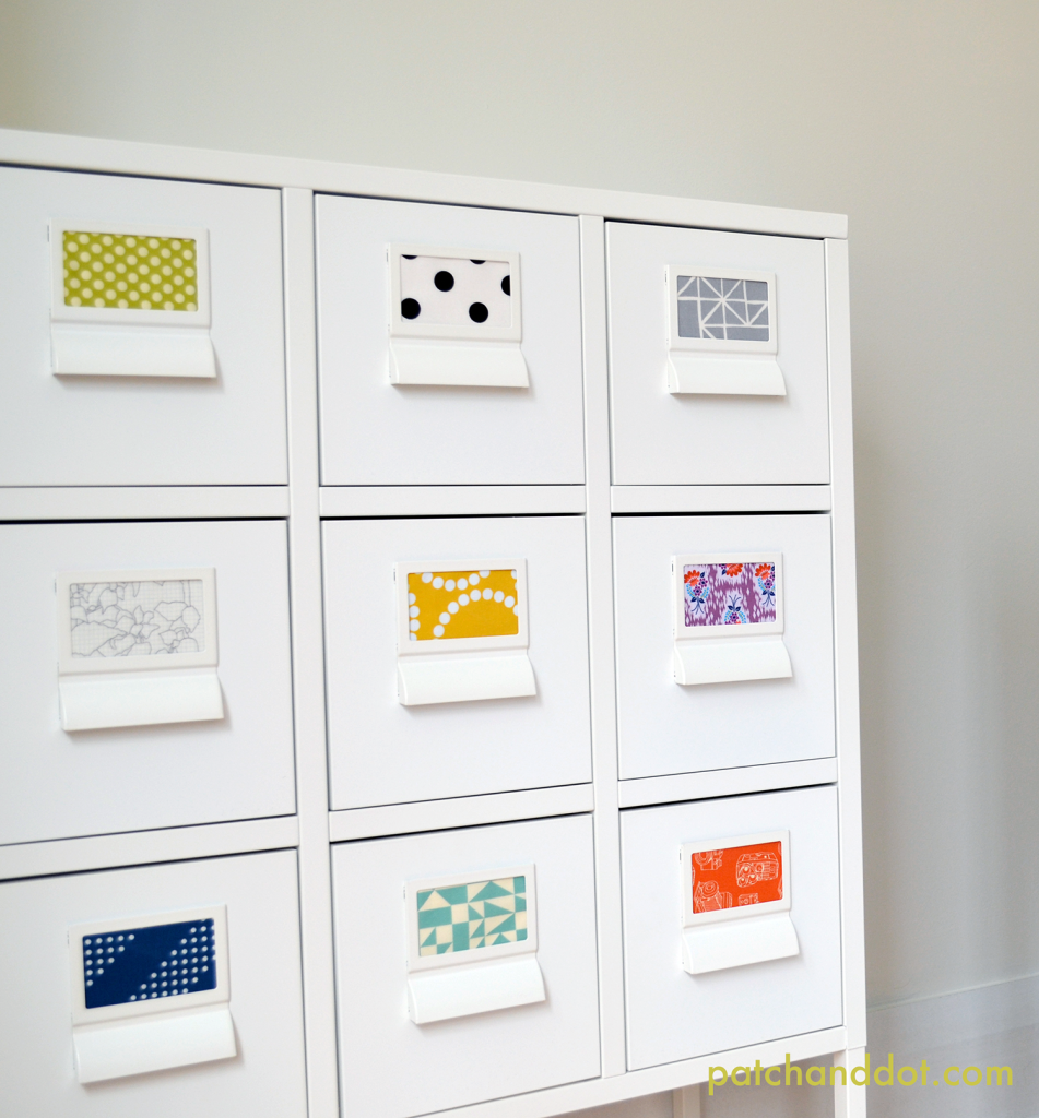 Ikea Sprutt fabric drawer labels