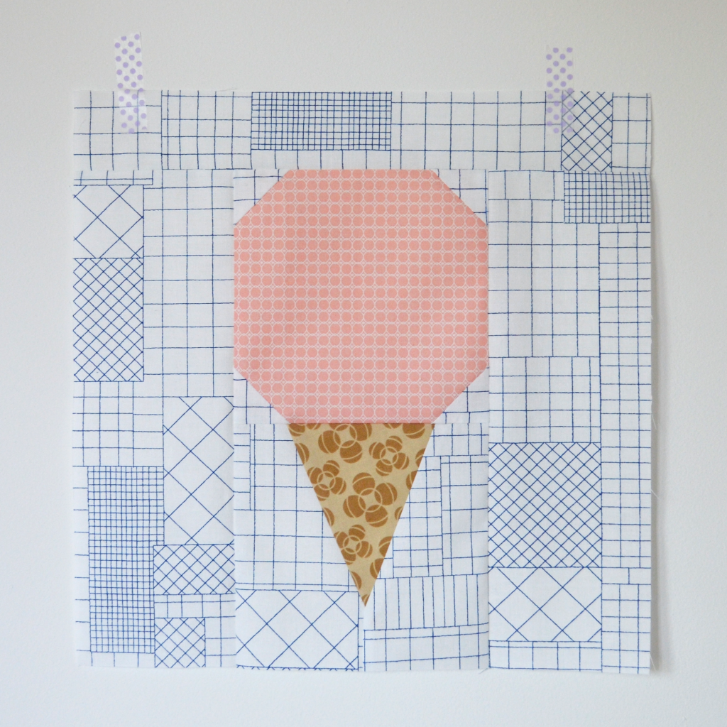 ice cream quilt block free pattern