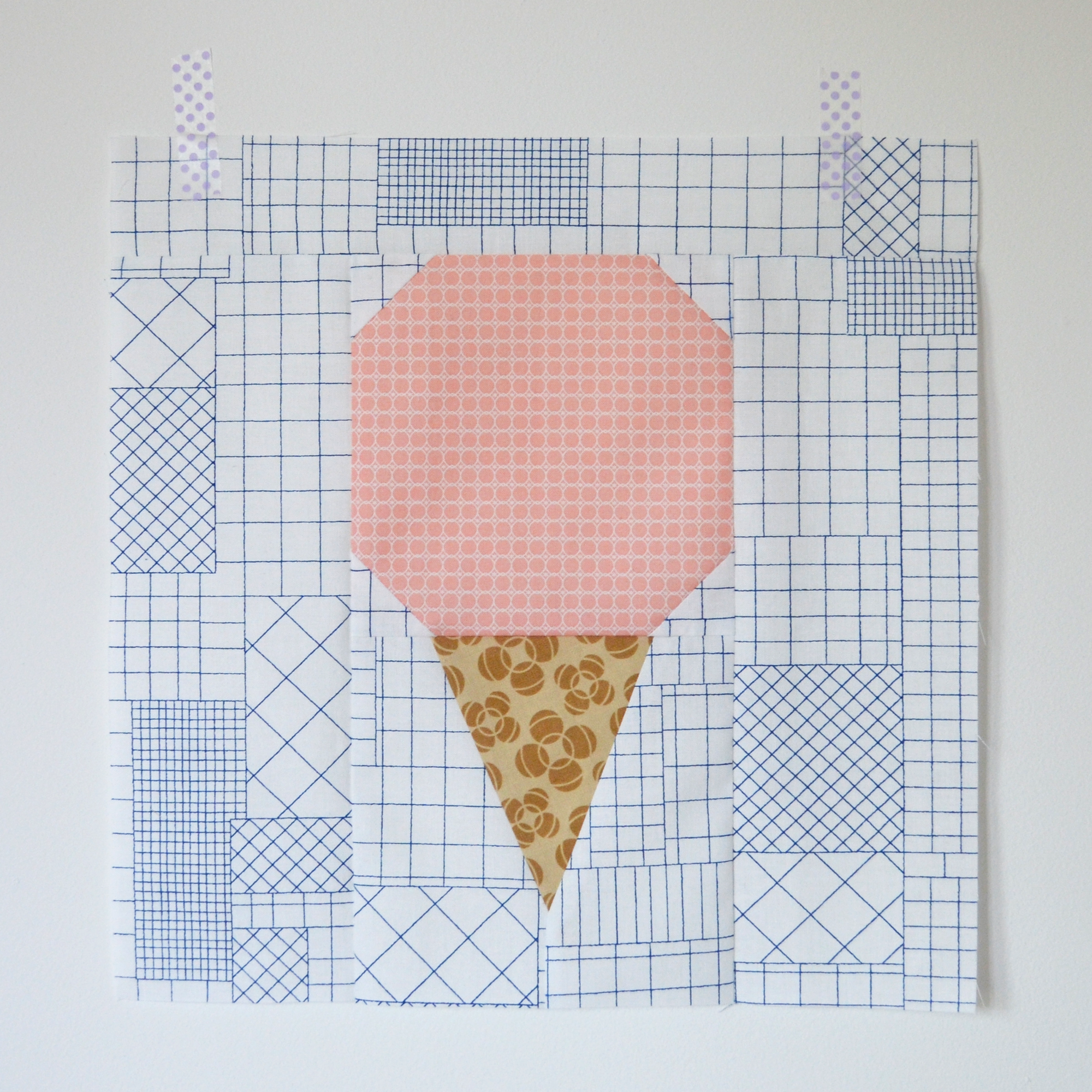 Ice cream block building blocks tuesday patch dot for Ice block construction