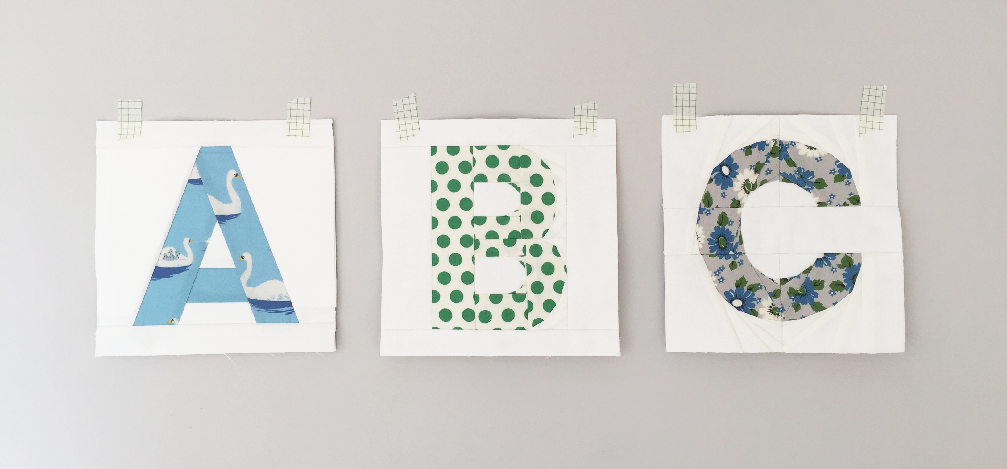 Paper pieced alphabet