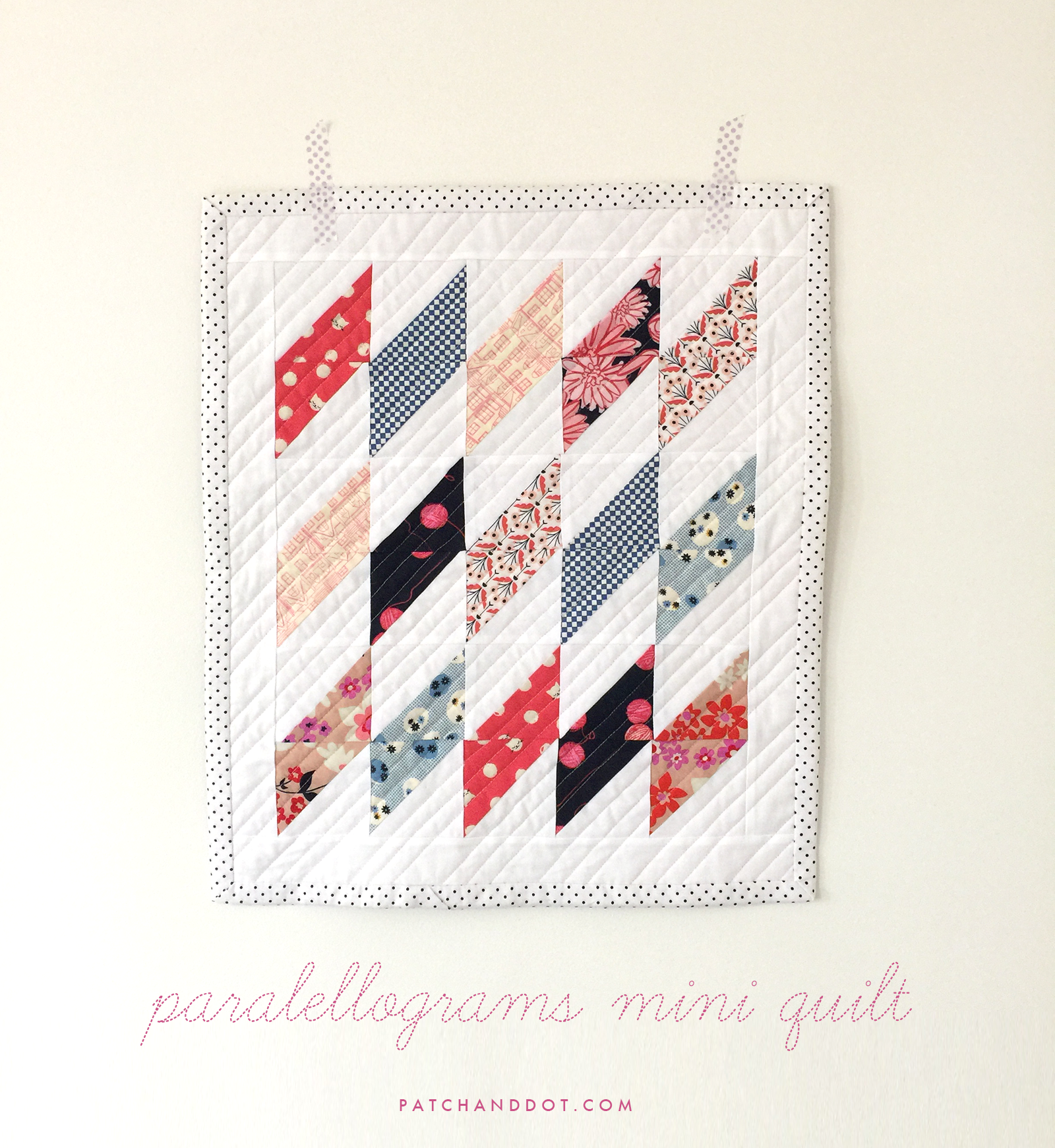 Mini quilt tutorial for beginners ⋆ Patch + Dot