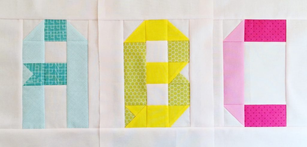 Alphabet Quilt Block Free Tutorial