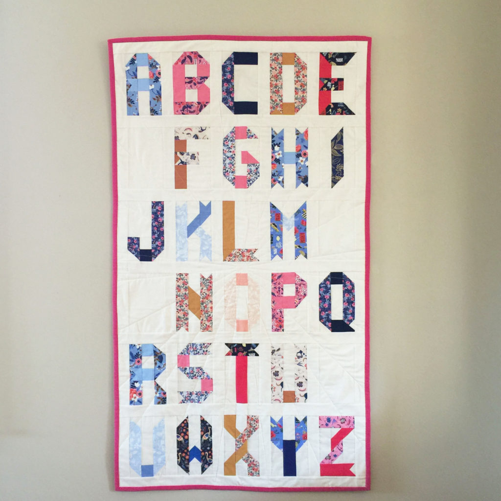 alphabet quilt block pattern