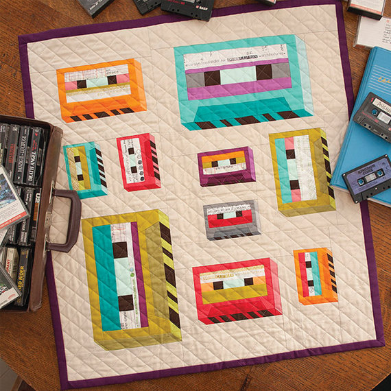cassette tape mini quilt pattern