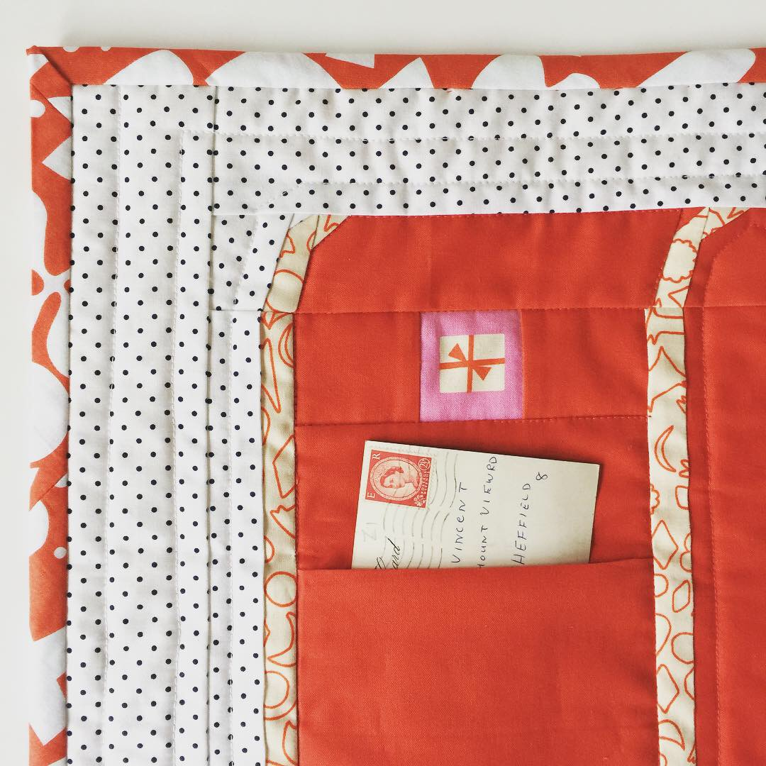 Letters to Santa Mini Quilt with Pocket