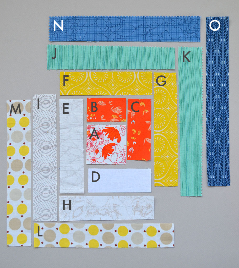 log cabin quilt block diagram