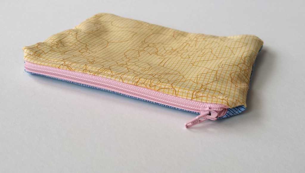 Zippered pouch pattern by Purl Soho