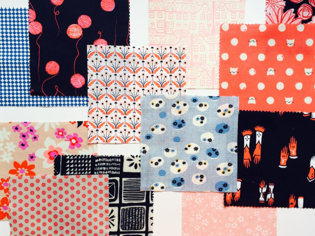 Mini quilt fabric selection
