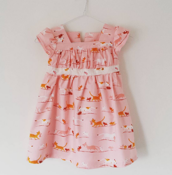 Garden Party Dress girls pattern
