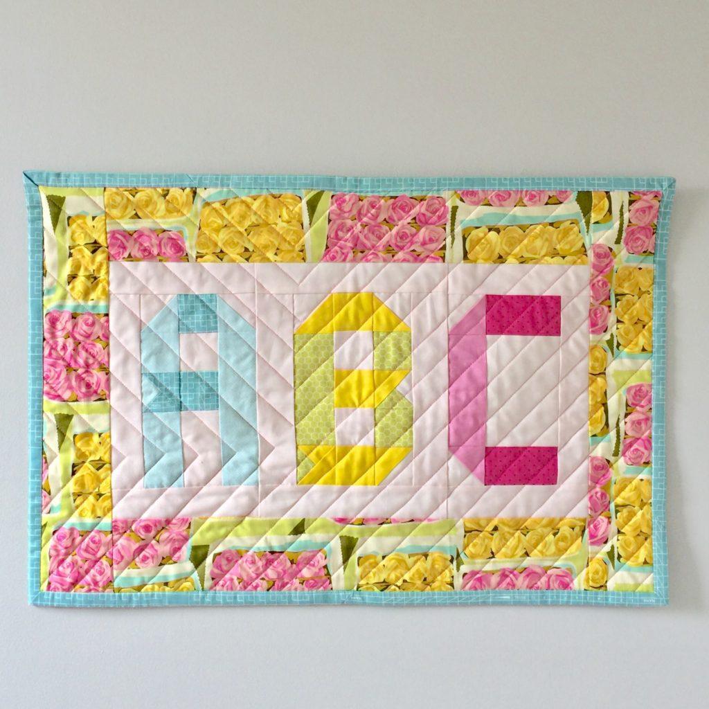mini quilt ABCs