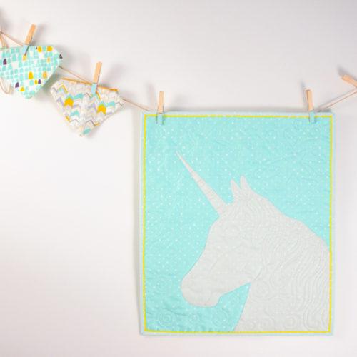 unicorn mini quilt pattern