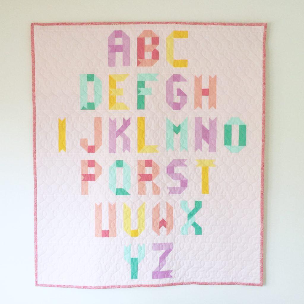 alphabet quilt block pattern