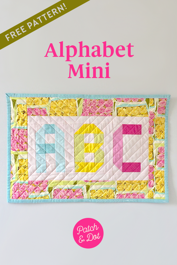 abc mini quilt pattern