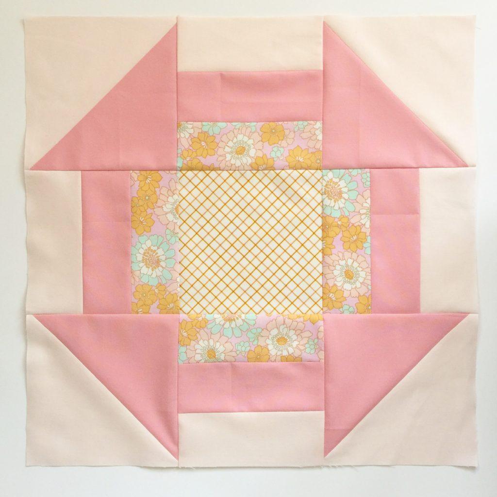 Hydrangea Pink Quilt Block