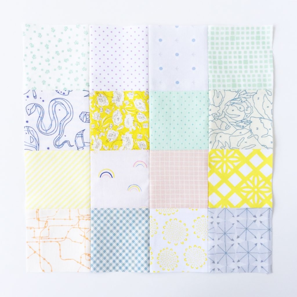 low volume Chamomile Quilt