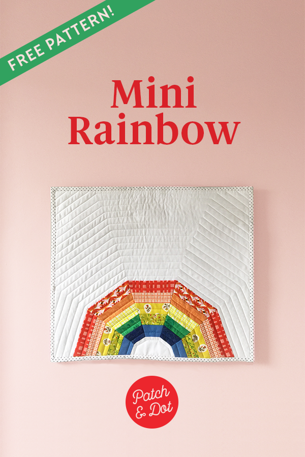 rainbow mini quilt pattern