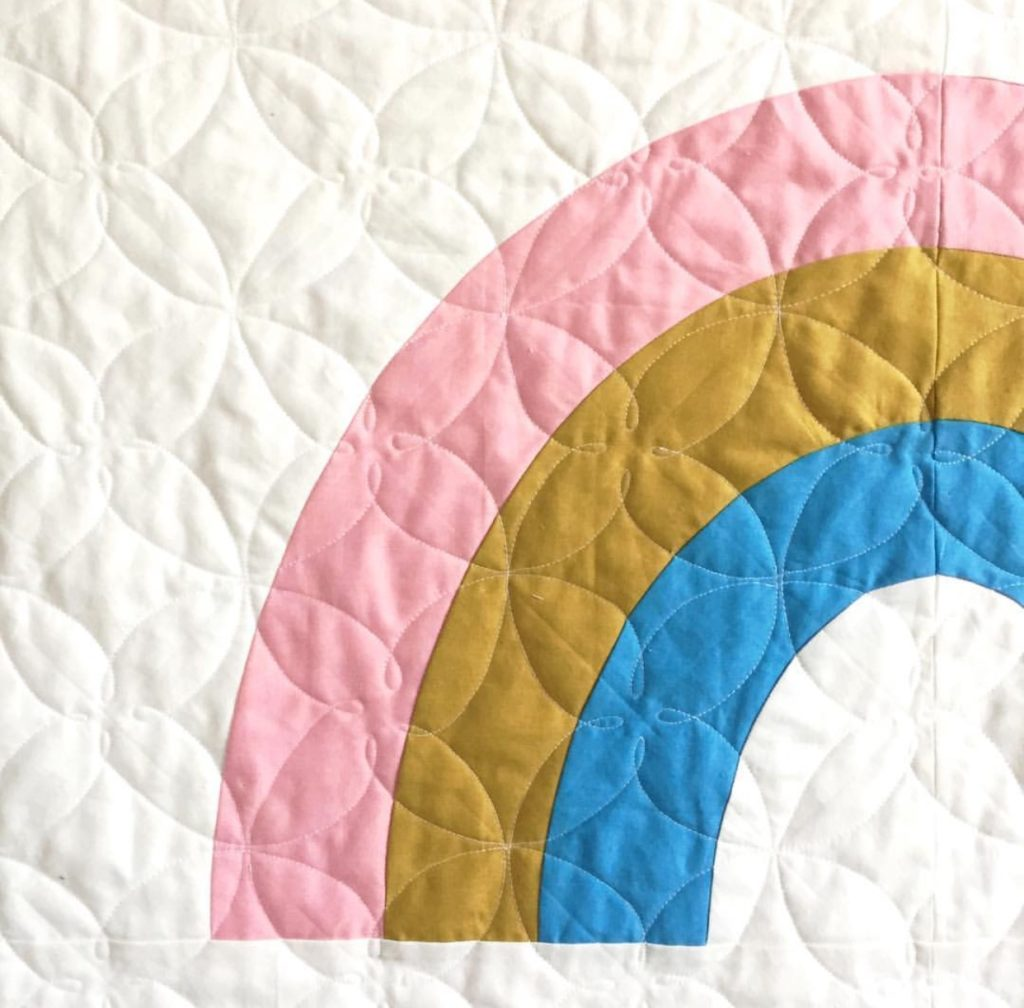 Retro Rainbow Quilt by Megan Collins
