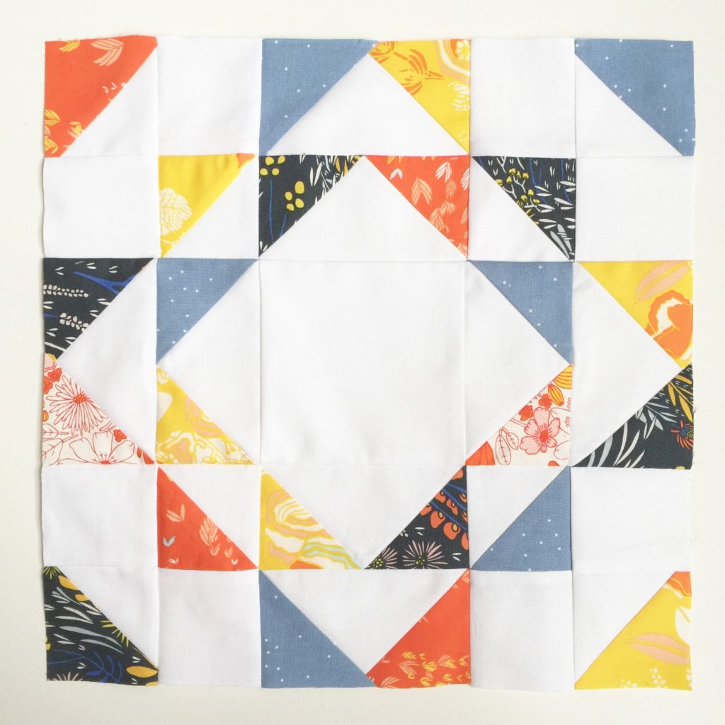 Ripples quilt block in primary colours