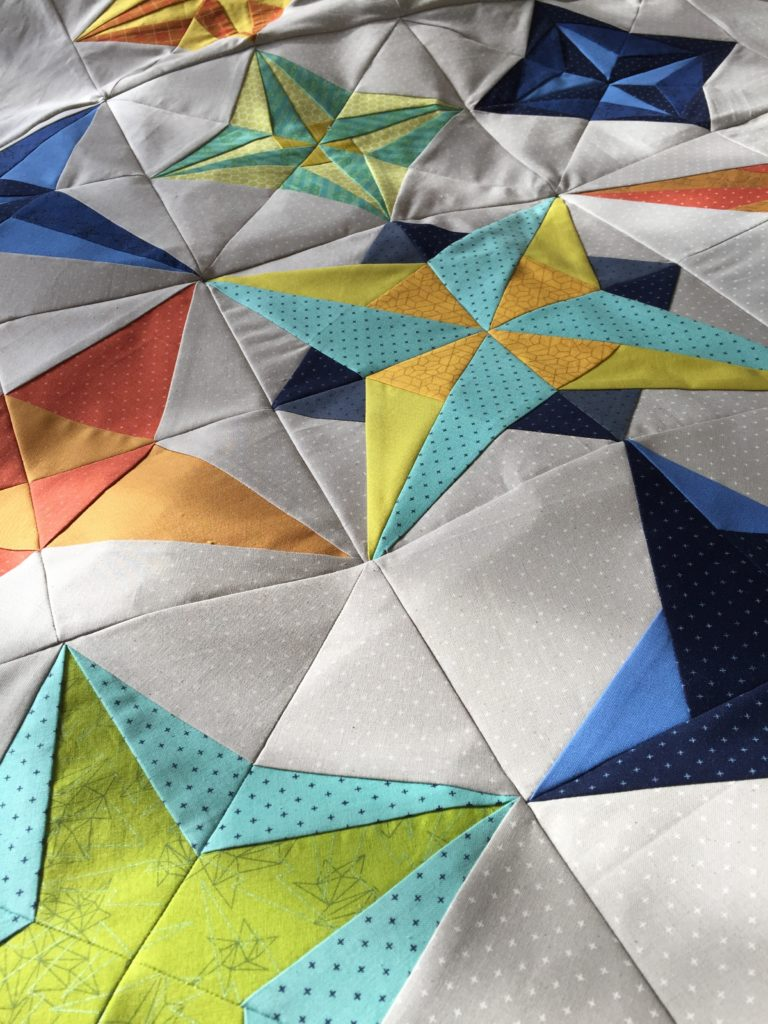 paper pieced star quilt pattern