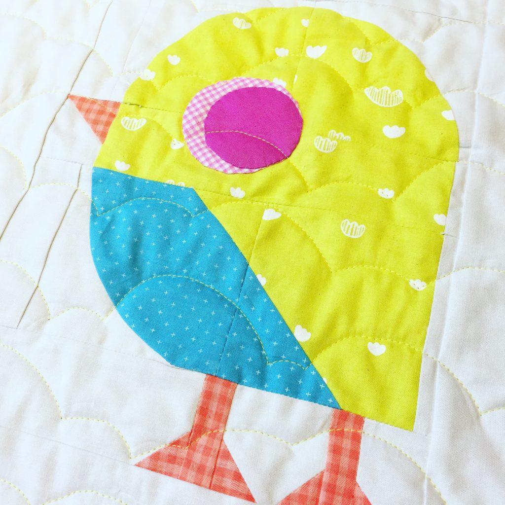 little bird quilt block