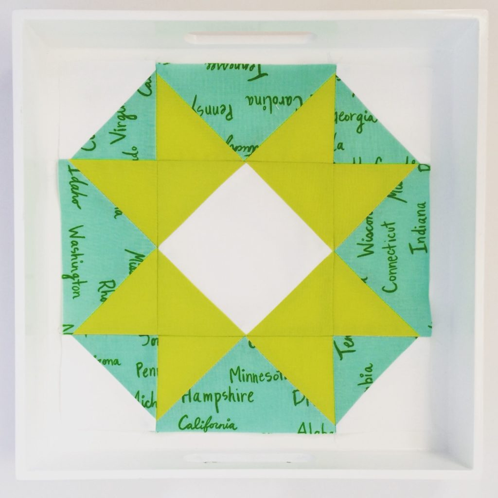 Green Shiny Brights Quilt Block