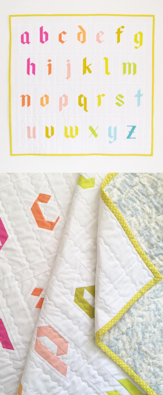 Paper pieced alphabet quilt