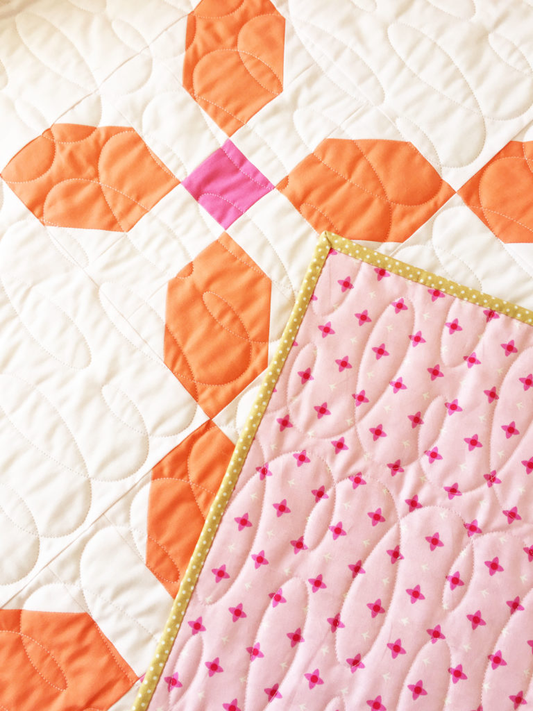 Lizzy House fabric quilt back