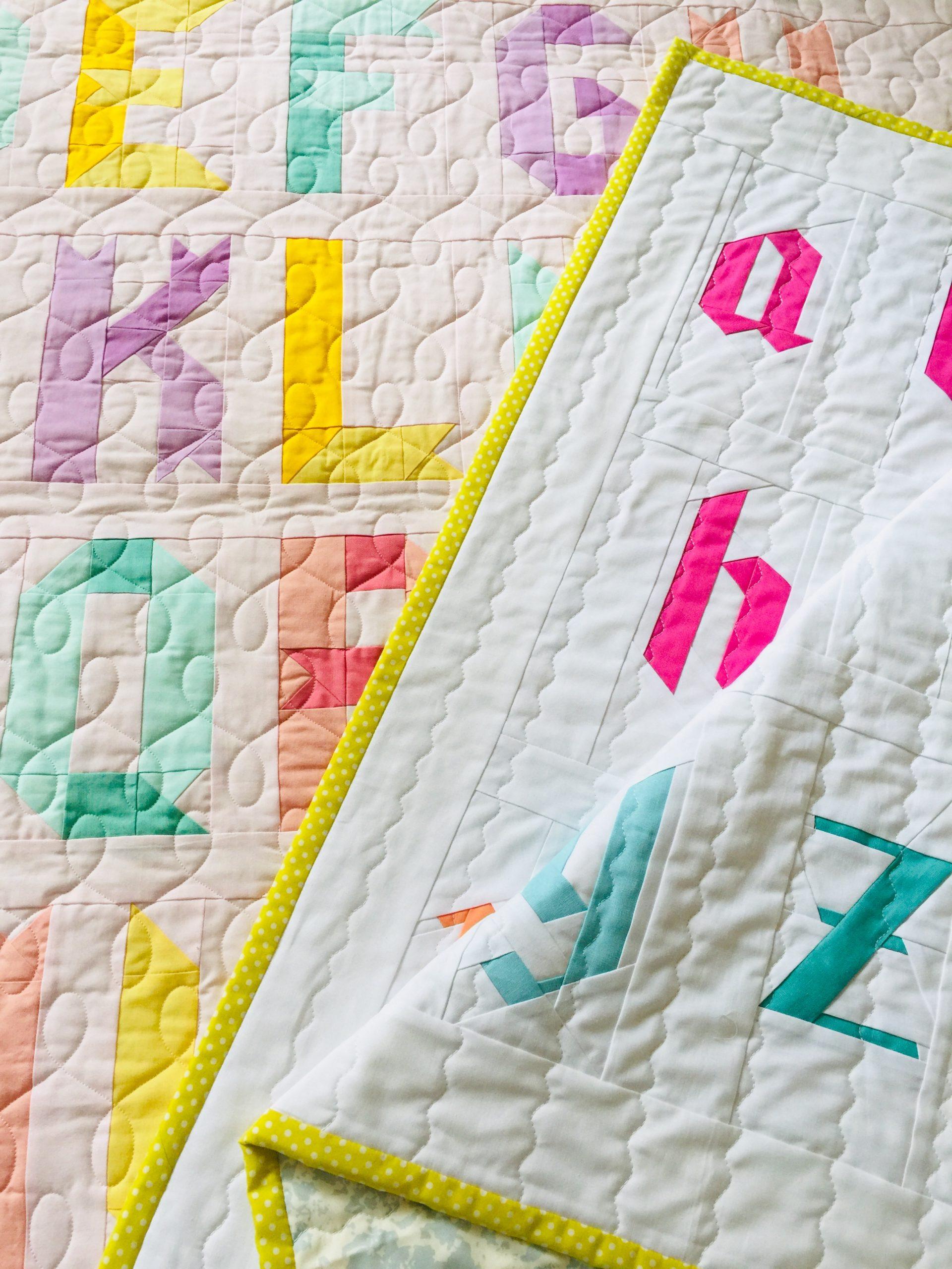 Alphabet quilt patterns: patchwork + FPP